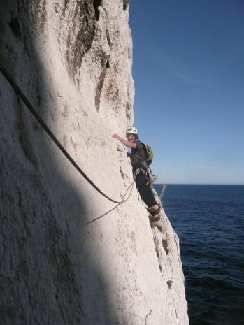 Une belle escalade sur du beau rocher...