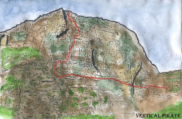 Roca Regina et tracé de la voie
