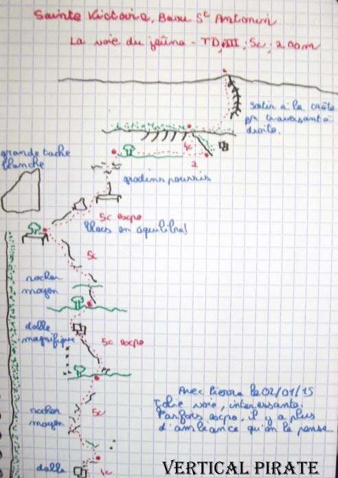 Topo Sainte Victoire - La voie du Jeûne