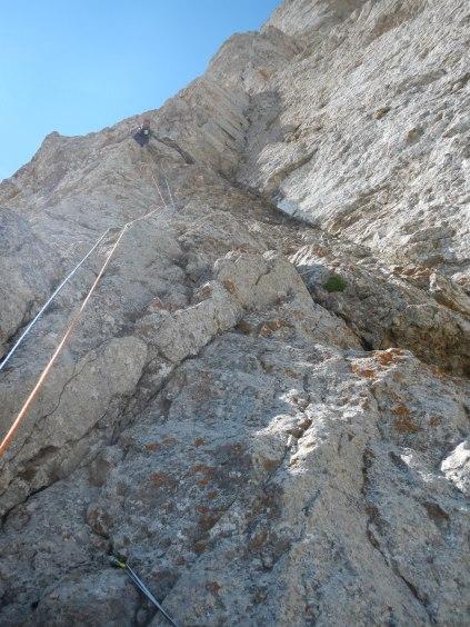 Pic de Bure, dans les longueurs du bas