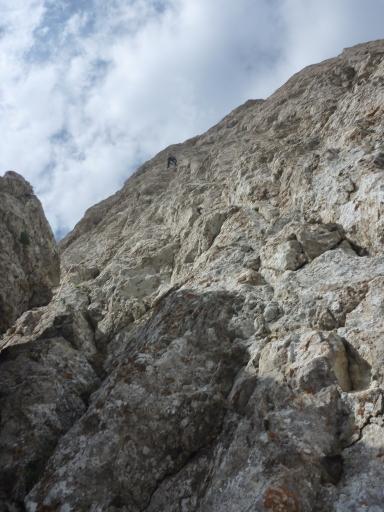 Le pic de Bure, une des parois majeures des Hautes Alpes