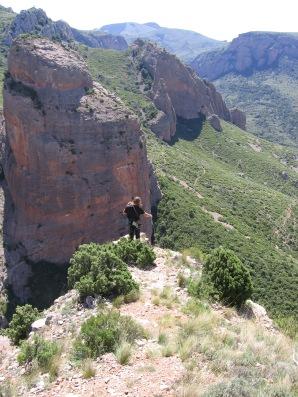 Au sommet de la Visera - Au loin, los Mallos Pequenos, plus abordables!