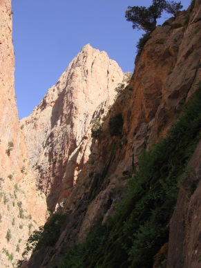 Le Taoujdad domine le profond canyon