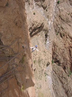 Timothée, heureux de grimper une si belle voie!