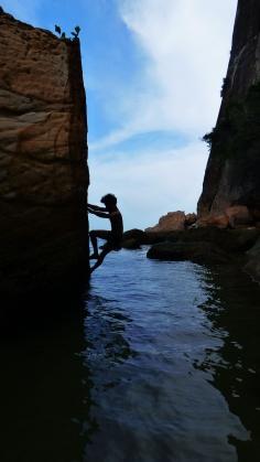 Bloc les pieds dans l'eau