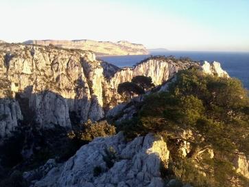 Le paysage, vu du sommet des crêtes