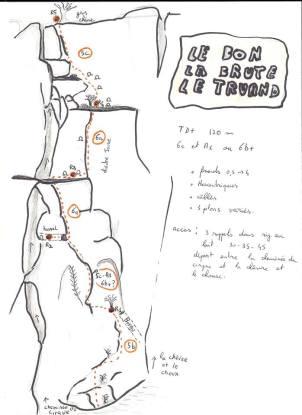 """Le topo de la voie """"le bon, la brute et le truand"""""""