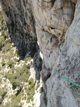 Fin de la longueur clé, vue du haut