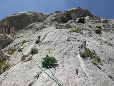 Avant dernière longueur - un rocher superbe!