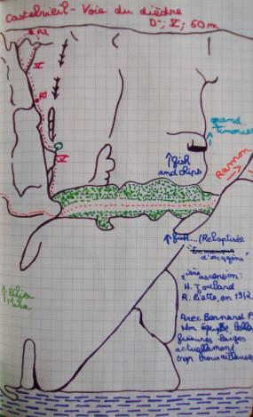 Le topo de la voie du Dièdre