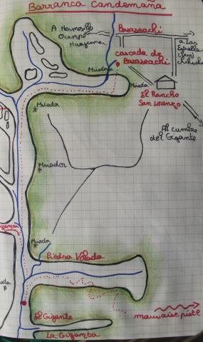 Plan du canyon